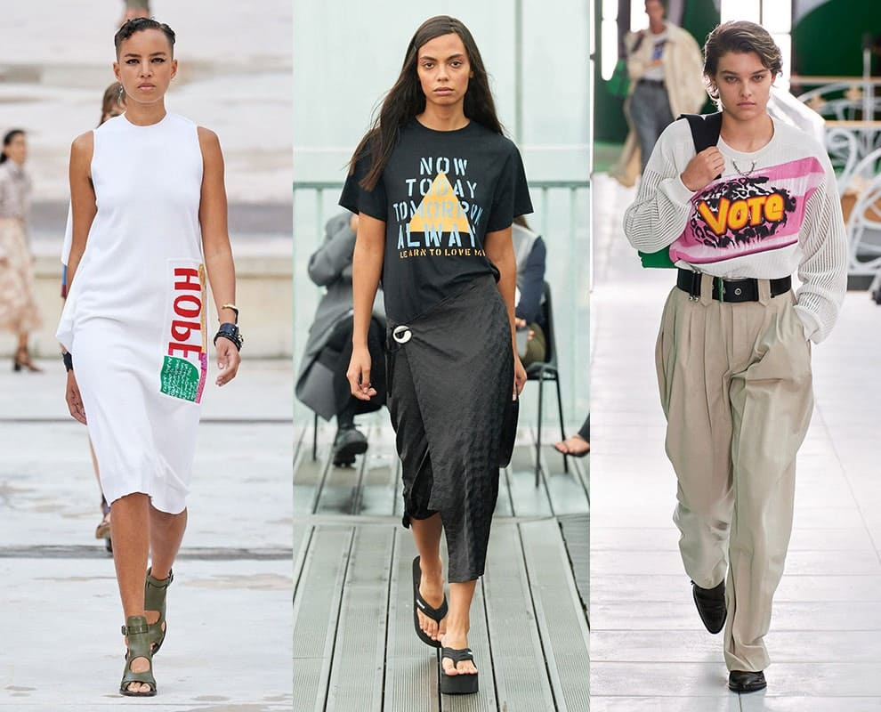 Chloé, Coperni, Louis Vuitton весна-лето 2021